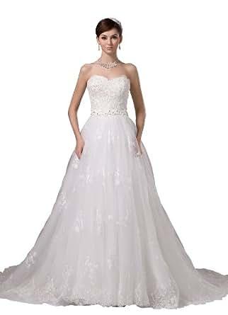 Herafa Wedding Dress Elegant NOw35431 Amazon Fashion