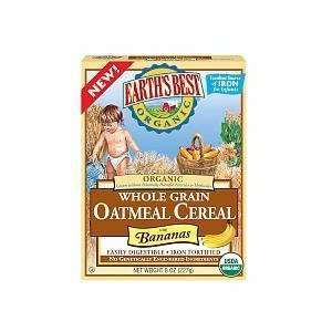 Earth'S Best Organic Whole Grain Oatmeal Cereal With Bananas - 8 Oz - 2 Pack front-730889