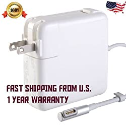 Macbook Pro Charger, Firstway® Ac 60w / 45w Magsafe Power Adapter Charger for Apple Macbook and 13-inch L Shape / Tip 16.5v 3.65a A1181 A1278 A1184 A1330 A1342 A1344