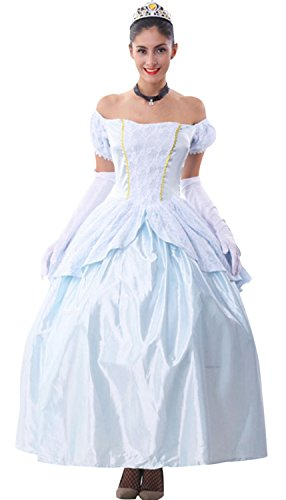 Cfanny Women's Princess Ball Gown Dress Cinderella Halloween Costumes
