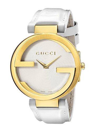 Gucci  YA133313 - Reloj de cuarzo para mujer, con correa de cuero, color blanco