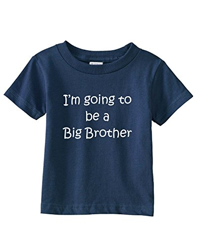 I'M GOING TO BE A BIG BROTHER Infant/Toddler Tee~Navy Blue~Infants-18M (Going To Be A Big Brother Shirt compare prices)
