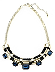 Autograph Multi-faceted Stone & Rope Chain Necklace