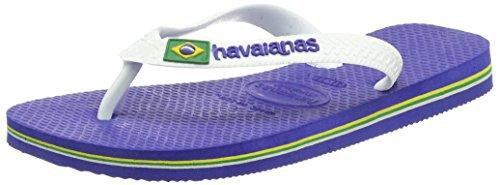 Havaianas Brasil Logo, Infradito, Unisex-bambino, Blu (Marine Blue), 33/34 EU (31/32 BR)