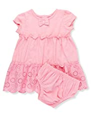 2 Piece Pure Cotton Broderie Dress & Knicker Set