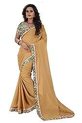 Shree laxmi creation women,s Brown colour chiffon saree