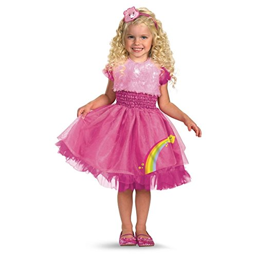 GSG Frilly Cheer Bear Costume Baby Care Bears Pink Halloween Fancy Dress (Adult Care Bears Cheer Bear Costume)