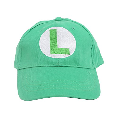 Super Mario Brothers Luigi Green Baseball Cap