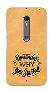 AMEZ remember why you started Back Cover For Motorola Moto X Style
