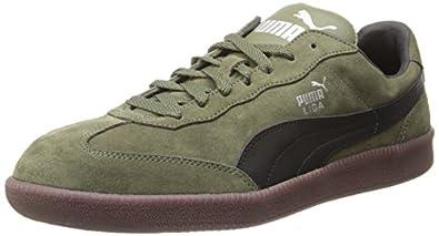 PUMA Liga Suede Classic Sneaker,Burnt Olive/Black,4 M US