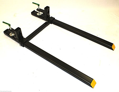Tractor Bucket Fork Stabilizer Bar : Ld clamp on pallet forks with stabilizer bar for tractor
