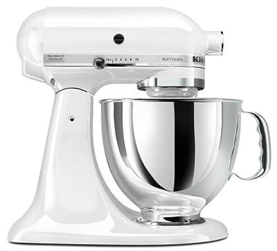 KitchenAid KSM150PSWH Artisan Series 5-Quart Mixer, White by Kitchenaid