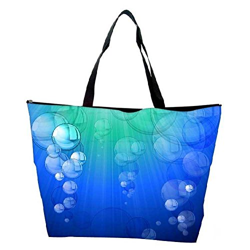 Snoogg Blue Bubble Vector Background Waterproof Bag Made Of High Strength Nylon