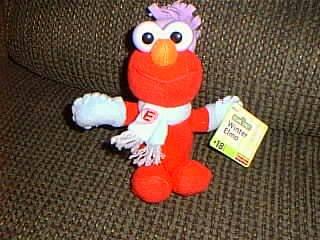 "Sesame Street Plush 8"" Winter Elmo Bean Bag Doll By Fisher Price front-1008871"