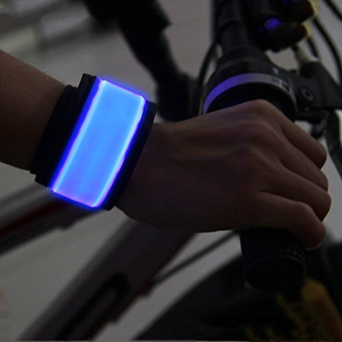 BSeen (TM), LED Slap Band, Glow bracelet, armband Glow in the dark (Blue)