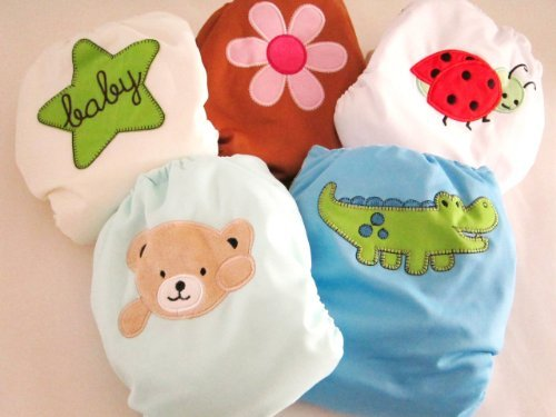 "Kawaii Baby One Size Heavy Duty in Velcro Closure Pocket Diaper ""Crocodile"" - 1"