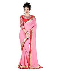 SRP Fashion Selection Women's Chiffon Saree (SRP-OF37, Pink)
