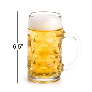 Stolzle 0.5 Liter Dimpled Glass Beer Stein