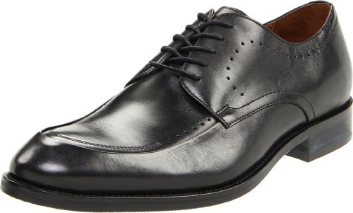Johnston & Murphy Men's Tyndall Moc Toe Oxford,Black Italian Calf,8 M US