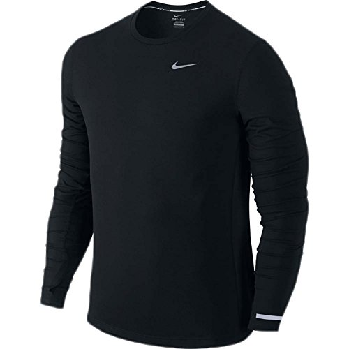 Men's Nike Dry Contour Running Top Black Size X-Large