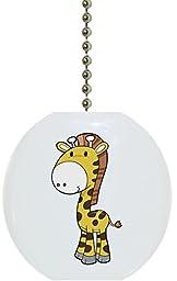 Carolina Hardware and Decor 2155F Baby Giraffe Cute Ceramic Fan Pull