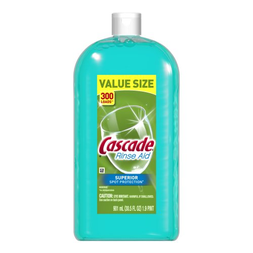 Cascade Rinse Aid, Dishwasher Rinse Agent, Original Scent 30.5 Fl Oz (Up And Up Dishwasher Pacs compare prices)