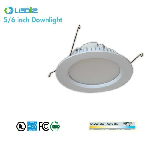 Ledi2 Led 5''-6'' Downlight 11W 810Lumens 2700K ,Dimmable 50,000 Hours Life R6-12W-27