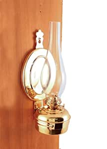 Wall Mounted Kerosene Lanterns : Amazon.com: Hanging Oil Lamp Brass 12