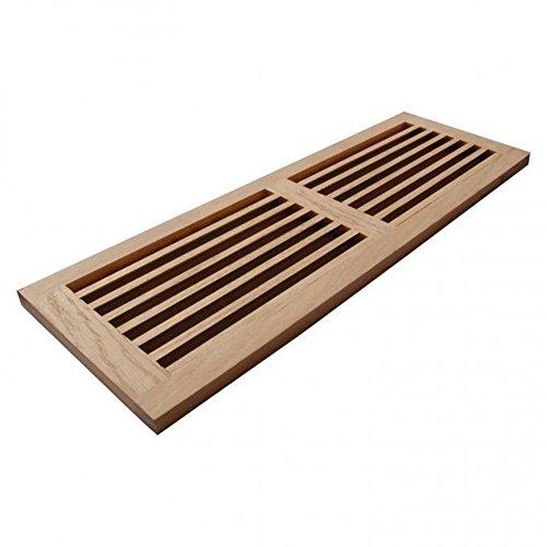 Welland 8 inch x 32 inch red oak hardwood register cold for Wood floor registers 6 x 14