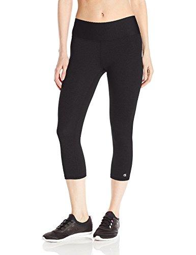 Champion Women's SmoothTec Capri Legging, Black, X-Large