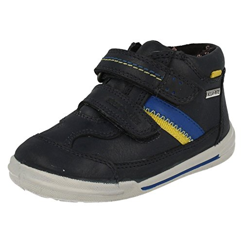Start-rite Aqua Jump Blu Navy in pelle impermeabile con chiusura in velcro Boys Boot, blu (Navy),   26 EU Piccolo