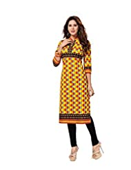 Aarvi Fashion Ethnicwear Women's Kurti Fabric(Multi-Coloured_Free Size) - B019HGBIXU