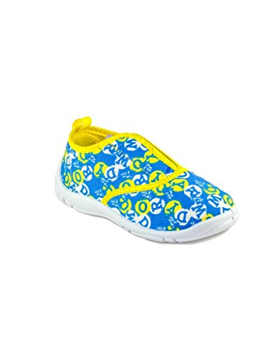 Tom And Jerry Boy's Blue And Yellow Canvas Indian Shoes - 8C UK