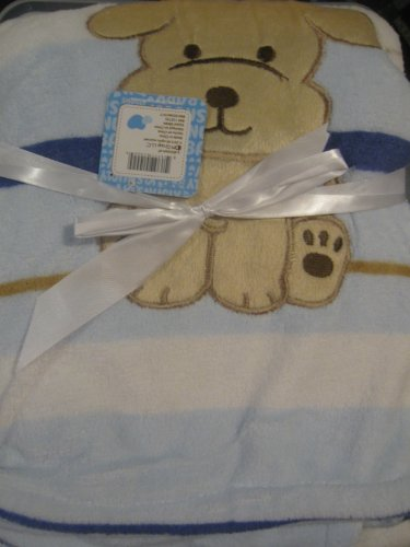 Snugly Baby Blue with Stripes Puppy Blanket