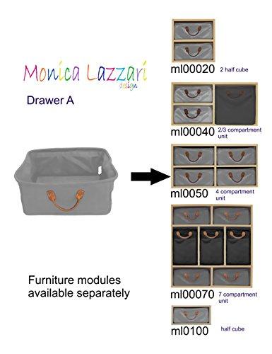 MLD Type A tiroir de rangement Jaune