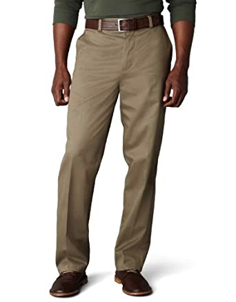 Dockers Men's Signature Khaki D3 Classic Fit Flat Front Pant, Bungee Cord, 29x30