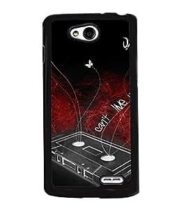 Fuson 2D Printed Music Designer back case cover for LG L90 - D4543