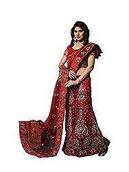 Vidhi Fashions Women's Net Lehenga Choli - NETN0065_Red