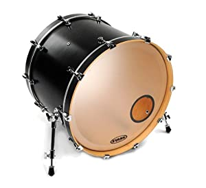 evans eq3 resonant frosted bass drum head 18 inch musical instruments. Black Bedroom Furniture Sets. Home Design Ideas