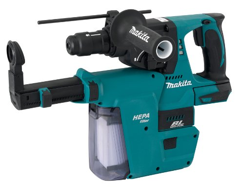 Makita Lxrh01Zvx 18-Volt Lxt Lithium-Ion Brushless Cordless 1-Inch Rotary Hammer With Hepa Vacuum Attachment (Tool Only, No Battery)