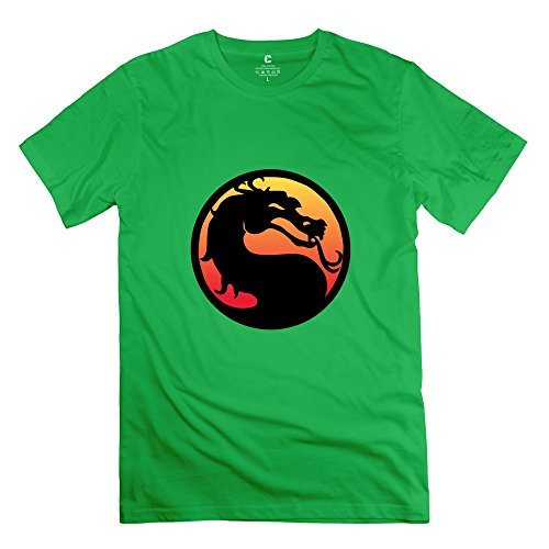 mortal-kombat-joke-short-sleeve-forestgreen-t-shirt-for-guys-size-l