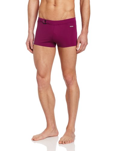 parke & ronen Men's Ibiza Hardware Square Cut Swim Trunk