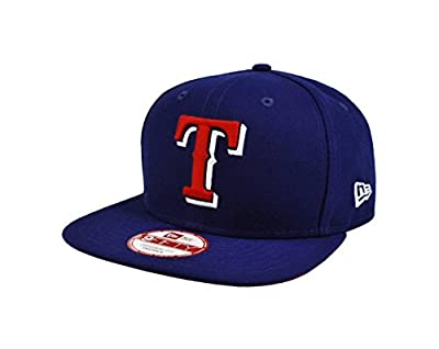 NEW ERA 9fifty MLB Hat Texas Rangers Adjustable Practice Baseball Dark Royal Blue Cap