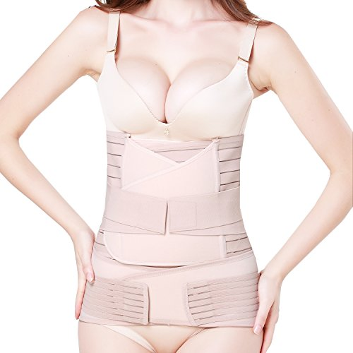 3 in 1 Postpartum Support - Recovery Belly/waist/pelvis Belt Shapewear (Nude) (Postpartum Recovery Belt compare prices)