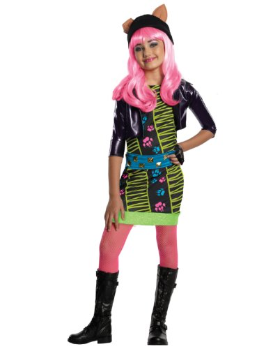 Childs Girls Monster High Howleen Wolf Costume And Wig Bundle