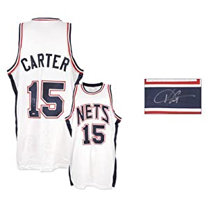 Vince Carter New Jersey Nets Autographed Jersey by Mounted Memories