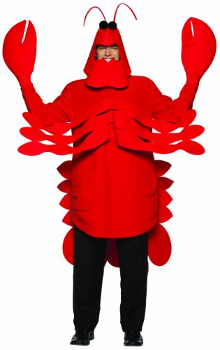 Rasta Imposta Lightweight Lobster Costume, Red, One Size