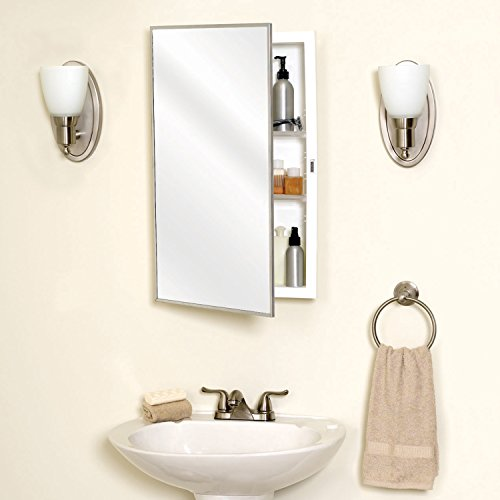 Zenith products 105 stainless steel framed medicine for Zenith bathroom cabinets