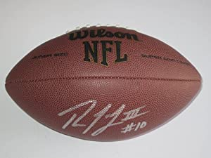 Robert Giffin Washington Redskins Signed Autographed Football with Certificate of...