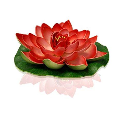 Lanterne Flottante Mariage, Fête, Anniversaire Lotus Natural Rouge (Lot De 3 Pièces)